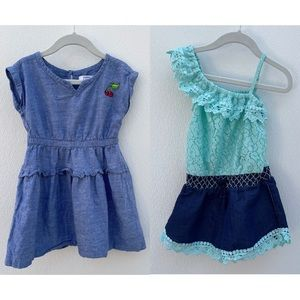 Crown & Ivy chambray dress & Freestyle romper 4T